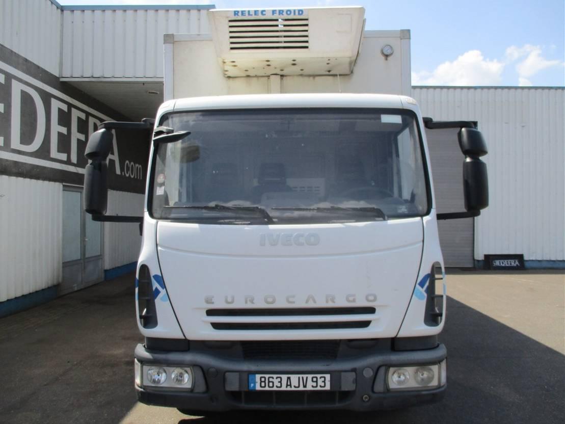 koelwagen vrachtwagen Iveco EuroCargo 100 100E18, Reefer truck , full spring suspension 2008