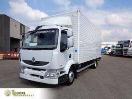 bakwagen vrachtwagen Renault Midlum 220 DXI + Manual + Euro 5 + Dhollandia Lift 2010