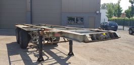 container chassis oplegger Pacton 2 Axel container trailer full steel 1993