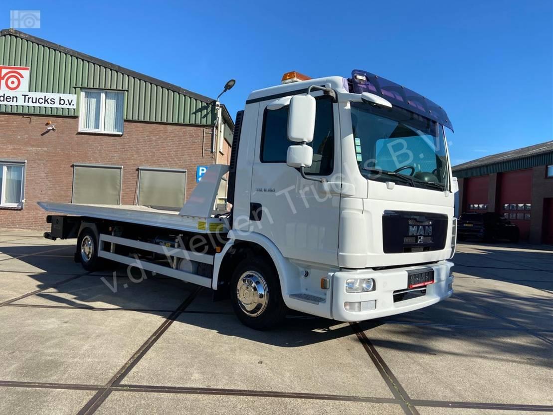autotransporter vrachtwagen MAN TGL 8.180   sliding platform  underlift 1,5 T 2011