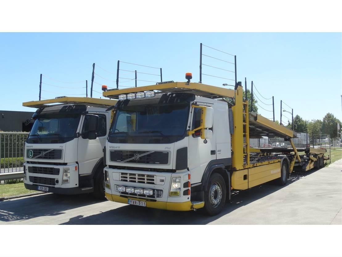 autotransporter vrachtwagen Volvo FM 400 + KASSBOHRER SUPERTRANS EURO 4 2009