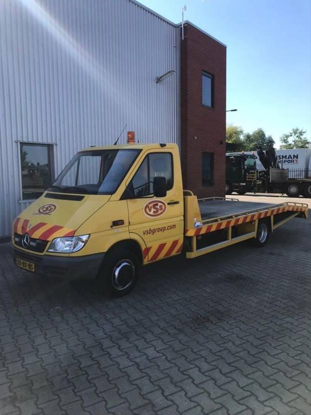 oprij vrachtwagen Mercedes-Benz Mercedes  413 / Tijhof oprijwagen/ Autotransporter / 2006
