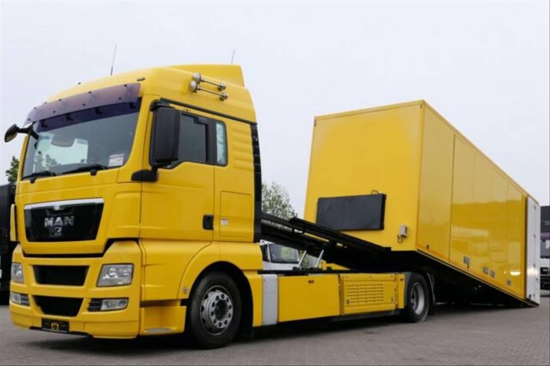 autotransporter vrachtwagen MAN TGX440 Autotransporter Seilwinde Doppelstock EEV 2011