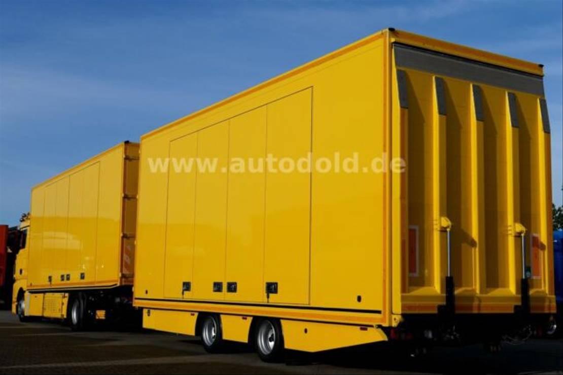 autotransporter vrachtwagen MAN TGX440 Autotransporter kpl. Zug Seilwinde EEV 2011