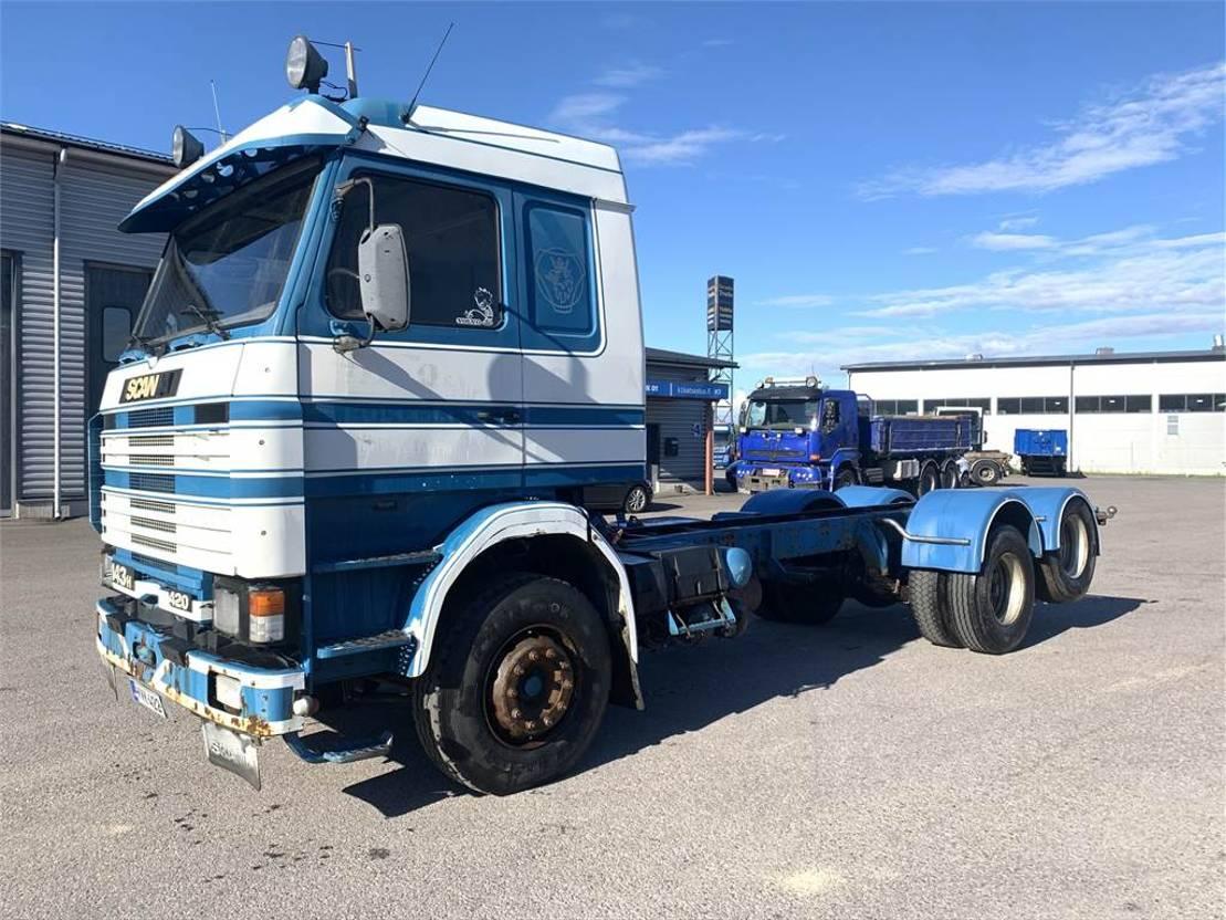 chassis cabine vrachtwagen Scania 143 HL-6X2 1992