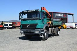 kipper vrachtwagen > 7.5 t Mercedes-Benz 1833 AXOR AK / Kipper/ 4x4 / Kran Euro 5/Allrad 2008