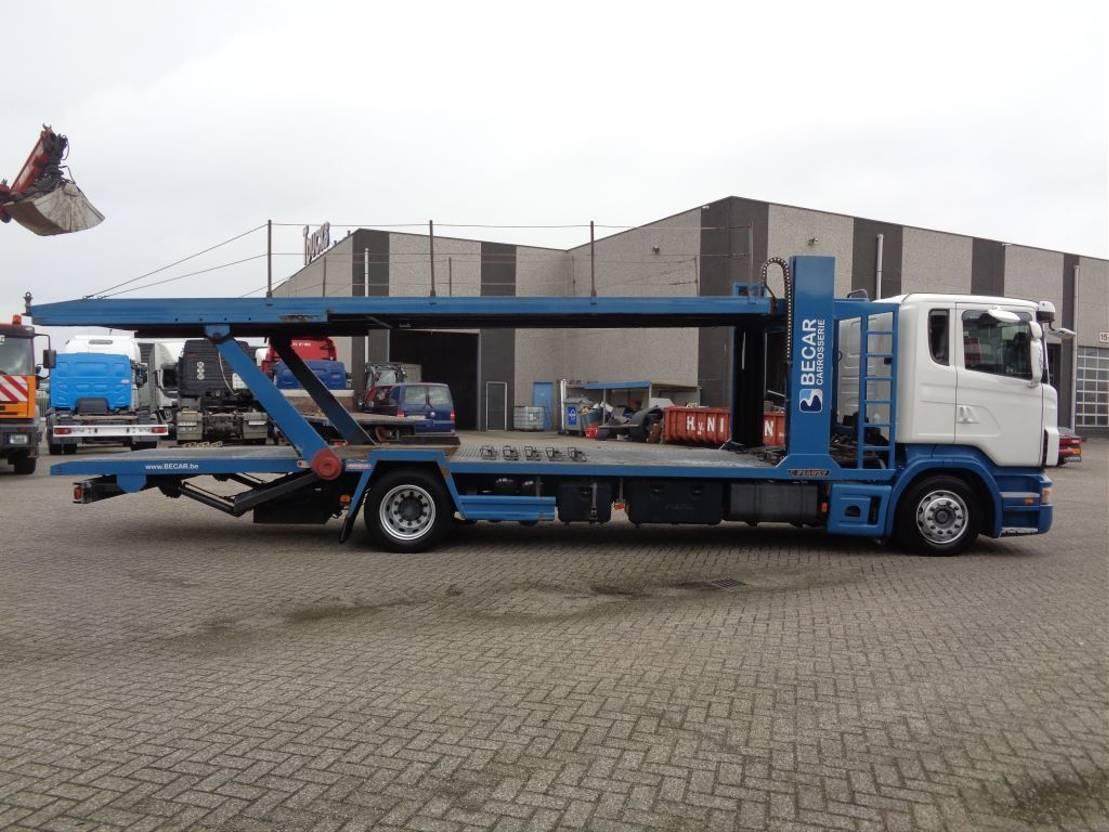 autotransporter vrachtwagen Scania R380 + PTO + Hydrolic Carlift + 3 PEDALS 2005