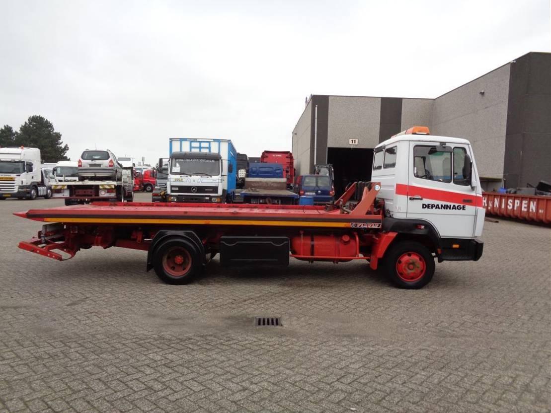 autotransporter vrachtwagen Mercedes-Benz Ecoliner 814 + Manual + Cable system + pto+6 cilinder 1989