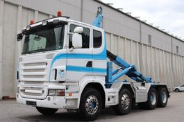 wissellaadbaksysteem vrachtwagen Scania R500  8x4 Manuell V8 AHK E5 Leasing 2008