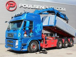 kraanwagen Volvo FM500 8x4*4 tipper crane 2012