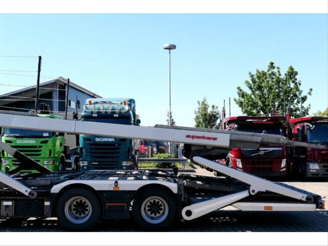 autotransporter vrachtwagen Mercedes Benz Actros 2445 Autotransport Kässbohrer-Supertrans 2015