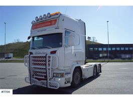 standaard trekker Scania R730 6x2 Top equipped truck with cooler on the roo 2015