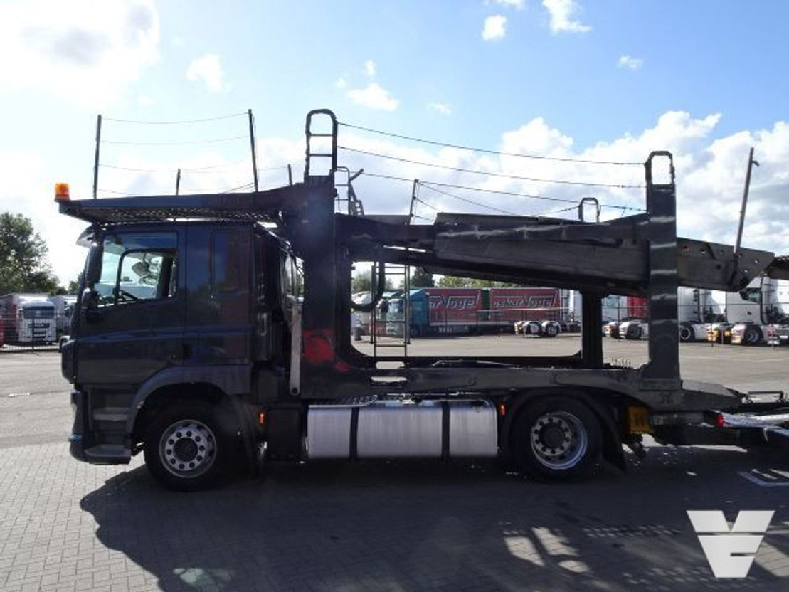 autotransporter vrachtwagen DAF CF 440 Rolfo Car transporter with trailer - Euro6 - 2014