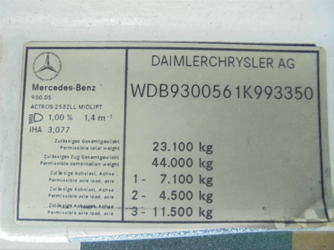 autotransporter vrachtwagen Mercedes-Benz 2532 LL MIDLIFT 2005