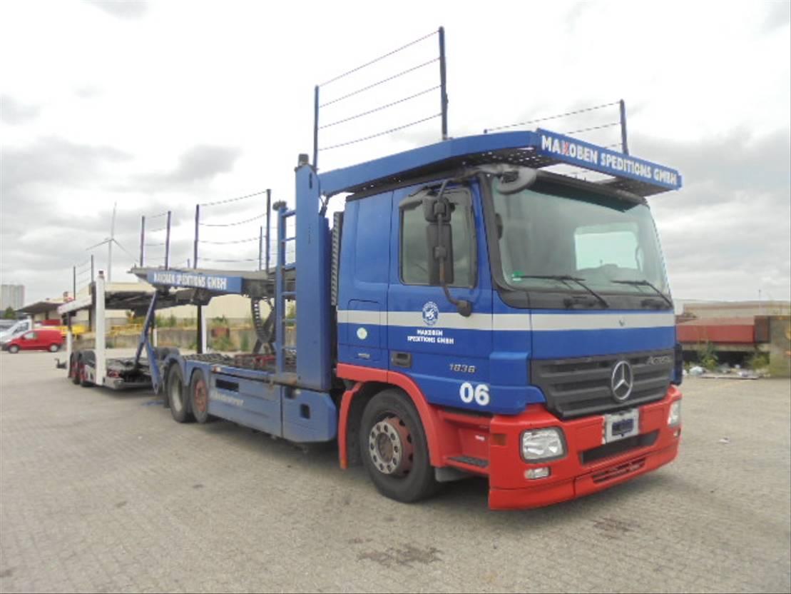 autotransporter vrachtwagen Mercedes Benz ACTROS 2536 6X2 MIDLIFT 2008