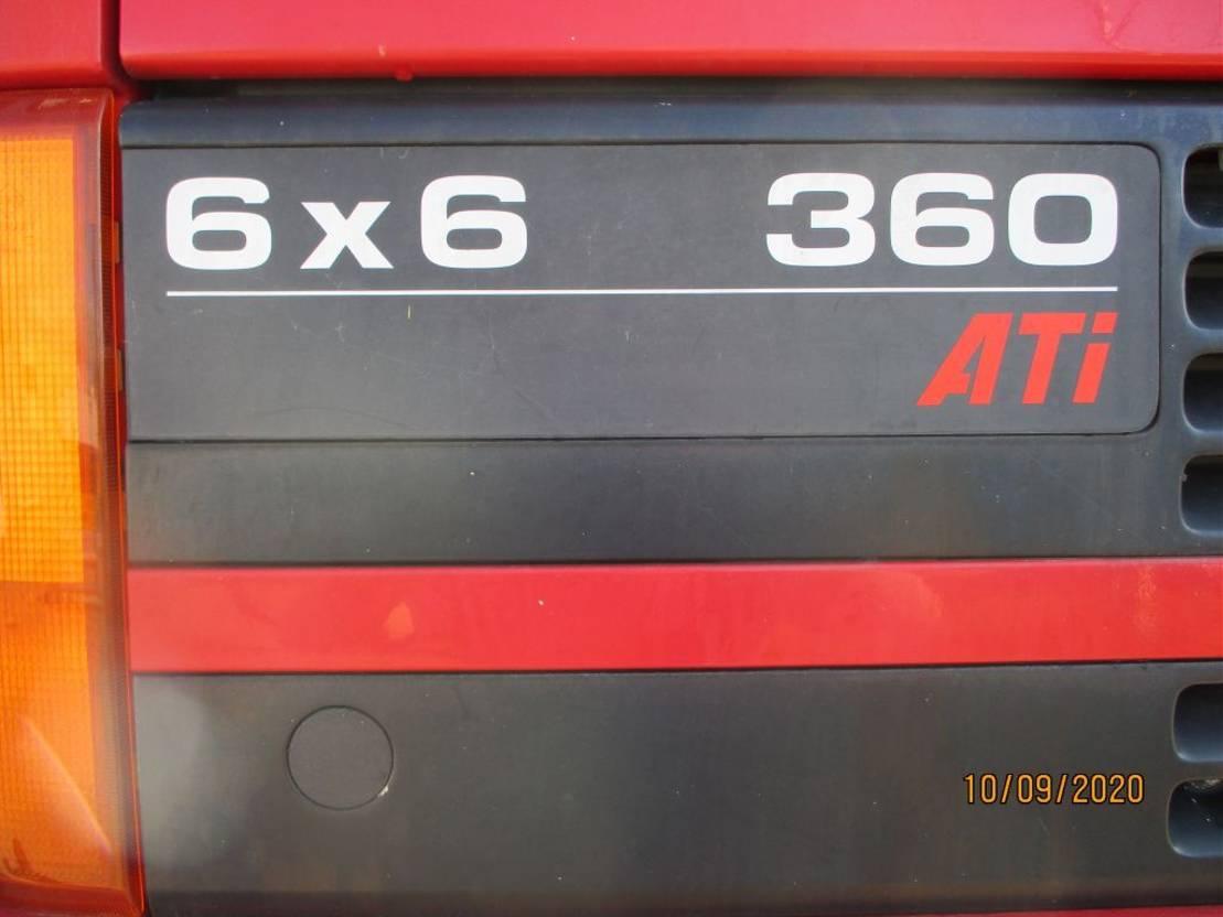 containersysteem vrachtwagen Ginaf GINAF-DAF 85 360 ATI 6X6 FULLSTEELSUSPENSION 1995