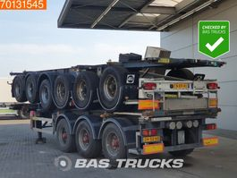 container chassis oplegger Burg 3 axles ADR 1x 20 ft 1x30 ft 2004