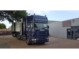 bakwagen vrachtwagen > 7.5 t Scania Scania 144-530 + aanhanger bloemen auto voor auto motor cross 1999