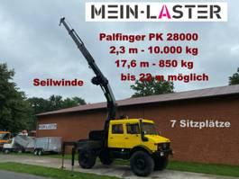 kraanwagen Unimog U 1750 Lang PK 28000 2,3 m- 10.000 kg Seilwinde