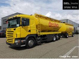 silo vrachtwagen Scania R 380 LB6x2*SILO /31m3 /6 Kammern /mit Anhänger