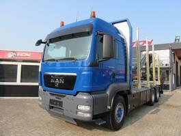 houttransporter vrachtwagen MAN TGS 6X6 EURO 5 + Crane - Woodtruck 2012