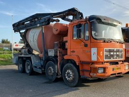 betonmixer vrachtwagen MAN 32.302 FULL STEEL SUSPENSION +MANAUL GEARBOX+ 9M3 +PUMP !!!!!!!!!!!!!!!!!!!!!!!!! 1991
