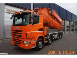 kolkenzuiger vrachtwagen Scania G 480 10x4 Amphitec 19m3 Drogestoffenzuiger 2011