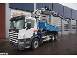 kipper vrachtwagen > 7.5 t Scania P 124.420 6x4 Retarder Cormach 22 ton/meter laadkraan 2004