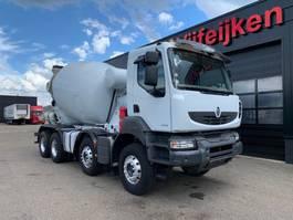 betonmixer vrachtwagen Renault KERAX 430 DXI - 8X4 BARYVAL CONCRETE MIXER EURO 5 - EEV 2013