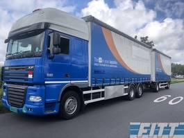 schuifzeil vrachtwagen DAF FAN XF105/410 6x2 combi, schuifzeilen schuif/hefdak, 4T klep 2012