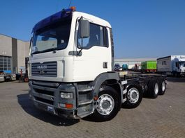 chassis cabine vrachtwagen MAN TGA 430 + Manual + 8X4 low klm !!!! 2003