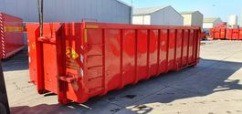 gevaarlijke stoffen container TE HUUR vloeistofdichte containers met haakarm en afdichtingsklep