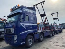containersysteem vrachtwagen Volvo FH13 -500 8X2 KIPPER MET TWISTLOCKS + VAN HOOL 3 AS AANHANGWAGEN 2013 2013