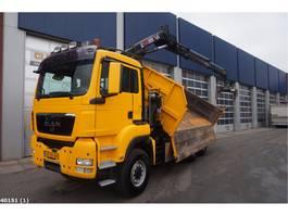 kipper vrachtwagen > 7.5 t MAN TGS 26.360 6x6 BB Hiab 14 ton/meter laadkraan 2010