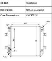 koelsysteem equipment onderdeel Nissan Heftruck radiateur (AL/PLASTIC)
