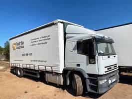schuifzeil vrachtwagen Iveco Eurotech 190E27 R 19 ton manual pump left hand drive. 1998