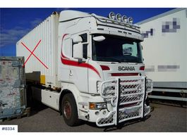 containersysteem vrachtwagen Scania R420 container chassis 2006