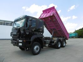 kipper vrachtwagen > 7.5 t Iveco Trakker 410 Allrad 6x6 Euro 5 EEV Meiller Kipper 2011