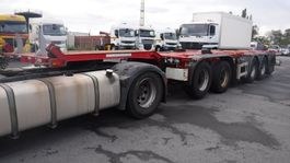 container chassis oplegger D-TEC 5 axle  containerchassis 2005