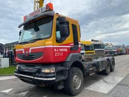 containersysteem vrachtwagen Renault KERAX 450 DXI 6X4 EURO 4 FULL STEEL 2008