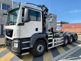 containersysteem vrachtwagen MAN TGS 35.430 8x4-4 haak+kraan 2021