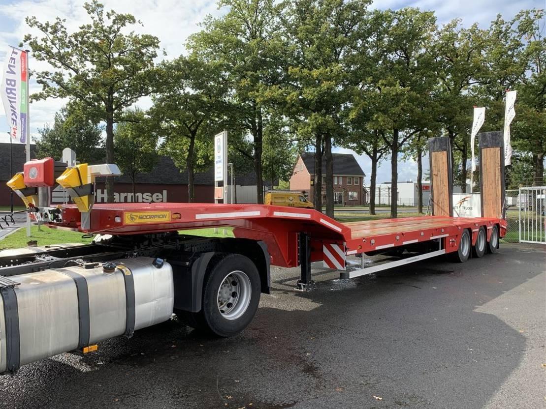 semi dieplader oplegger Scorpion ALM Damper SCP3 54 ton Hydraulick ramps rampen semi trailer remolque low bed boy NEW Heavy Duty 2020