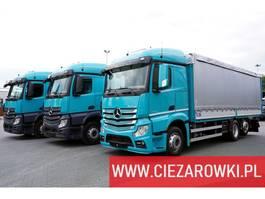 huifzeil vrachtwagen Mercedes-Benz Actros 2542 , STEEL TRANSPORT , E6 , 6x2 , Retarder , lift/steer 2016