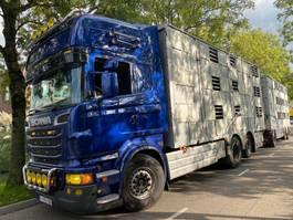 veewagen vrachtwagen Scania R620 6X2 MANUAL RETARDER - 3 LAYERS MET REMOTE + 3 AS AANHANGER 2011 2011