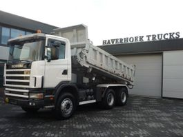 kipper vrachtwagen > 7.5 t Scania 124C 420 6x4 EMPL 2 SIDE STEEL TIPPER 2003