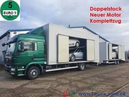 autotransporter vrachtwagen MAN TGM 15.290 Doppelstock Geschlossen 3 Fahrzeuge 2013
