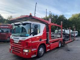 autotransporter vrachtwagen Scania P420 4X2 RETARDER EURO 5 + ROLFO 2 AS AANHANGWAGEN 2012