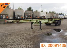 container chassis oplegger Van Hool 2 x 20-40 ft skelet 1983