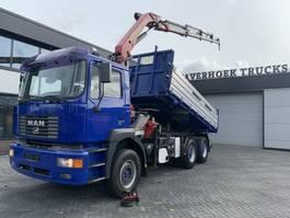 kipper vrachtwagen > 7.5 t MAN 33 414 6x4 Tipper/crane Pk 14600C 2000