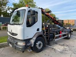 chassis cabine vrachtwagen Renault MIDLUM 240 DXI MANUAL EURO 5 + PALFINGER PK 4501 MET REMOTE 2009